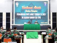 Pangdam XII/Tpr Terima Hasil Pemeriksaan Post Audit Itjenad
