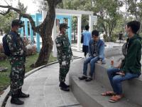 Patroli Penegakan Disiplin Protokol Kesehatan Kudam XII/Tanjungpura beri Himbauan Kepada Masyarakat