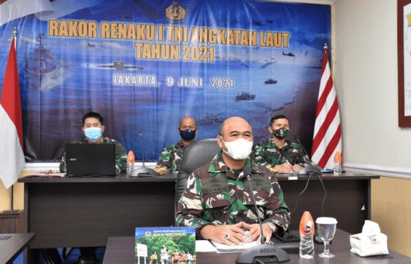 Komandan STTAL Mengikuti Rakor Renaku I TNI Angkatan Laut TA.2021