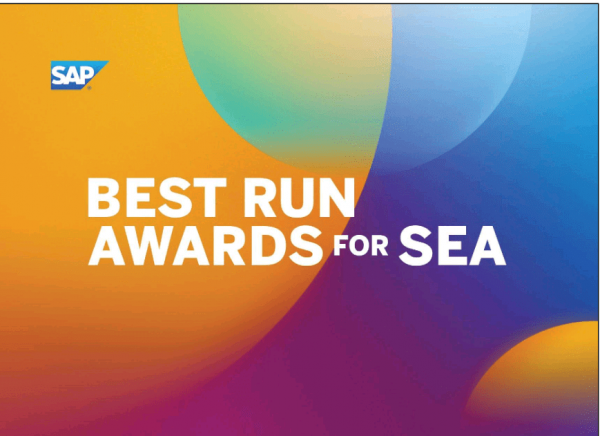 SAP Southeast Asia Mengumumkan Para Pemenang Inagurasi SAP Best Run Awards 2021