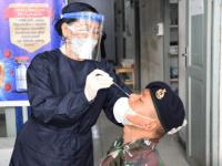 Prajurit Lantamal XII Laksanakan Swab Rapid Test Antigen Antipasi Penyebaran Covid – 19