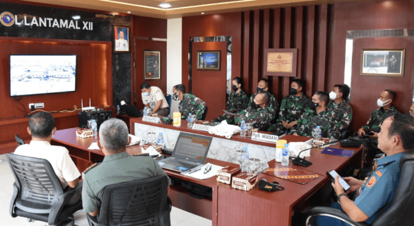 Lantamal XII Terima Kunjungan Tim Kodifikasi Dari Kementerian Pertahanan RI