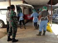 Koramil 1201-03 Mempawah Hilir Cek 2 Pasien Covid Meninggal di Rumah Sakit Rubini