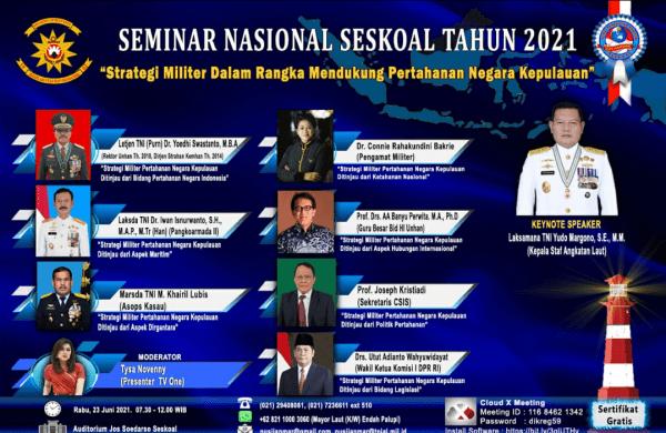 Dosen dan Mahasiswa STTAL  Ikuti Seminar Nasional Seskoal