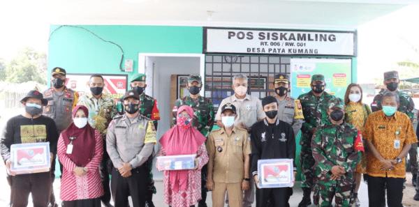 Pangdam XII/Tpr Kunjungi Satgas PPKM Skala Mikro Desa Paya Kumang
