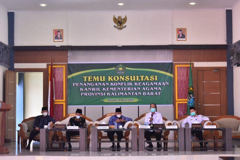 """TEMU KONSULTASI """"Penanganan Konflik Keagamaan Kanwil Kementrian Agama Provinsi Kalimantan Barat"""""""