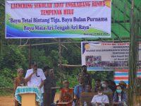 Bupati Sintang Resmikan Sekolah Adat Engkabang Rinda di Remiang