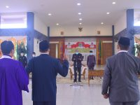 Bupati Sintang Lantik dan Ambil Sumpah Empat Pejabat Pimpinan Tinggi Pratama Hasil Lelang