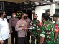 Purnatugas Babinsa Mempawah Hilir Ucapkan HUT Ke-75 Kepolisian Republik Indonesia