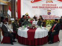 Pangdam XII/Tpr Hadiri Syukuran HUT Bhayangkara ke-75 di Mapolda Kalteng