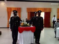 Dirgahayu Bhayangkara Ke-75, Polres Melawi melasanakan acara syukuran di Hadir Bupati Melawi dan Kejari Sintang