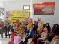 Polsek dan Puskesmas Kuala Mandor B Gelar Vaksinasi, Sebanyak 70 Orang Telah Melaksanakan Vaksin