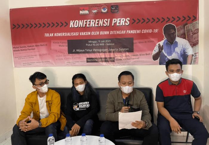 Adakan Konferensi Pers, Aliansi Mahasiswa Mengecam Keras Terkait BUMN Jual Vaksin