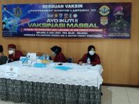 Vaksinasi Tahap Pertama Anak- Anak KBT Terselenggara di LANTAMAL XII Pontianak