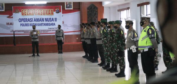 Polres Kutai Kartanegara Gelar Operasi Aman Nusa II 2021 Lanjutan