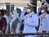 Komandan STTAL Hadiri Upacara Prasetya Perwira TNI dan Pelantikan Perwira Polri Tahun 2020