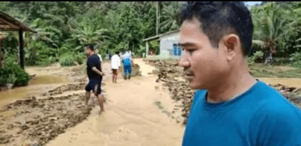 Warga Dusun Selamat Dari Tanah Longsor Gunung Loweng Desa Kepayang