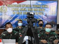 Ka Akun STTAL Mengikuti Rekonsiliasi Internal Tingkat Satker UO TNI AL TA.2021
