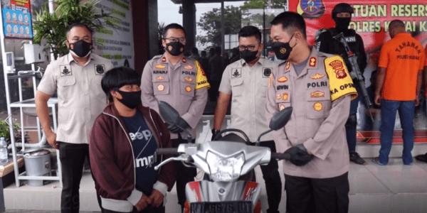 Tim Alligator Polres Kutai Kartanegara Ringkus Pelaku Curanmor Lintas Kota