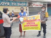 PPKM Darurat Di Kota Pontianak, Polsek Pontianak Kota Lakukan Kegiatan Bantuan Sosial