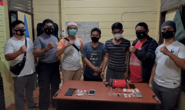 Polsek Kembang Janggut Meringkus Dua Pengedar Sabu