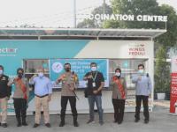 Yayasan Wings Peduli dan Kapolresta Tangerang Serahterimakan Kontainer untuk Gerai Vaksin Drive Thru