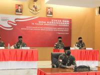Pangdam XII/Tpr Ikuti Zikir dan Do'a Kebangsaan 76 Tahun Indonesia Merdeka Secara Virtual