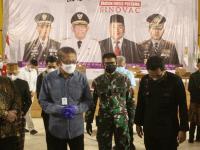 Pangdam XII/Tpr Bersama Gubernur dan Kapolda Tinjau Vaksinasi Perkumpulan Merah Putih