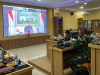 Pangdam XII/Tpr dan Kajati Kalbar Ikuti Vicon Arahan Presiden dan Evaluasi Penerapan PPKM Level IV di Luar Jawa Bali