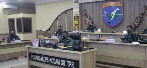 Pangdam XII/Tpr Ikuti Pengarahan dan Pamitan Pangkogabwilhan I Jelang Purna Tugas