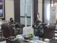 Pangdam XII/Tpr Terima Paparan Rencana Pengamanan Latihan YTP Yonif R 641/Bru