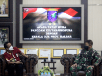 Bangun Sinergi, Pangdam XII/Tpr Terima Kunjungan Kepala OJK Kalbar
