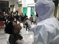 Bantu Lacak Kasus Covid-19, Kodam XII/Tpr Gelar Pelatihan Cara Pengambilan Swab Antigen