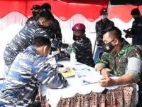 PEDULI SESAMA LANTAMAL XII MELAKSANAKAN AKSI DONOR DARAH PLASMA KONVALESENT DALAM RANGKA HUT KEMERDEKAAN REPUBLIK INDONESIA KE 76
