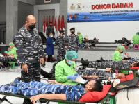 Sekolah Tinggi Teknologi Angkatan Laut Gelar Serbuan Donor Plasma Konvalesen dan Donor Darah Masyarakat Maritim