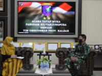 Pangdam XII/Tpr Terima Kunjungan Tim Kajian dari Ombudsman Kalbar