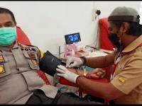 IPTU Joni Donorkan Darah di Bulan Bhakti Praja Muda Karana (Pramuka), Dudung : Hadiah Istimewa Buat Kami