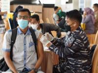 TNI AL LANTAMAL XII DUKUNG SERBUAN VAKSINASI SERENTAK PESANTREN DAN RUMAH IBADAH, SINERGI DENGAN STAF KHUSUS PRESIDEN RI