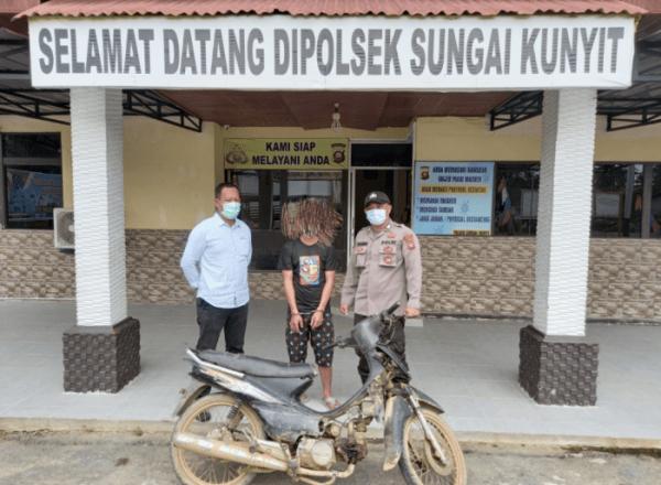 Polisi Tangkap Seorang Maling Motor dan Satu Pelaku Melarikan Diri