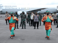 Pangdam XII/Tpr Sambut Kedatangan Panglima TNI dan Kapolri di Bumi Khatulistiwa