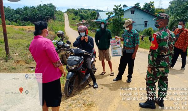 Peran Aktif Babinsa Dalam Operasi Yustisi Protokoler Kesehatan Covid 19 Di Kecamatan Meranti