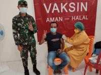 Sebanyak 280 Warga Binaan Wilayah Koramil Sengah Temila, Mendapatkan Vaksinasi Tahap Dua