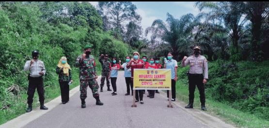 Koramil Air Besar Bersama Tim Gugus Tugas Covid -19 Kuala Behe Laksanakan Ops Yustisi