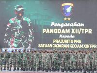 Pangdam XII/Tpr Beri Pengarahan Kepada Prajurit dan PNS