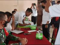 Hadiri Pelantikan Perangkat Desa, Babinsa Toho Berharap Pelayanan Masyarakat Dengan Tulus