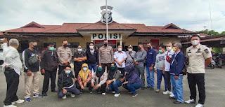 Silaturahmi Kapolsek Ambawang Bersama Awak Media
