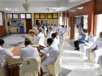 Komandan STTAL Ikuti Upacara Hari Kesaktian Pancasila Secara Virtual
