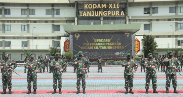 Pangdam XII/Tpr Terima Penyerahan Pasukan