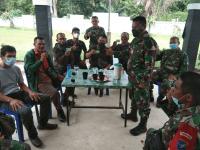 Pererat Silaturahmi dan Hubungan Sinergis dengan Mitra Karib, Koramil Toho Adakan Pembinaan