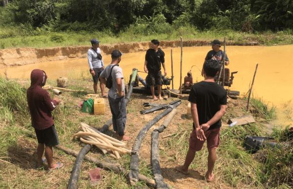 Polres Sintang Amankan 4 Pelaku, Dalam Operasi PETI Kapuas 2021